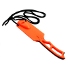 ASR Outdoor Survival Knife with Emergency Whistle 2.5 Inch Blade Orange