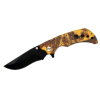 ASR Outdoor Folding Pocket Knife ABS Handle 3.5 Inch Blade - Forest Yellow