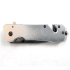 ASR Outdoor Thumb Assisted Folding Knife Belt Clip Seat Belt Cutter Punch Silver