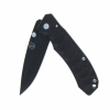 ASR Outdoor 3.75 Inch Black Aluminium Body Pocket Knife with Belt Clip
