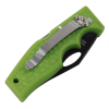 ASR Outdoor Pocket Knife Small Utility Green Diamond Plate Pattern Handle