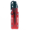 4 Inch ASR Outdoor Fixed Blade Tanto Point Hunting Neck Knife - Red