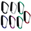 Jumbo 6.5 Inch XL Carabiner Key Chain With Hand Grip - 7 Pack