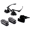 Jewelers Loupe Illuminated Hands Free Magnifying Head Set with Cases