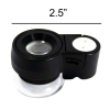 Universal Hobby 15x Magnification Jewelers Eye Loupe Dual UV LED Acrylic Lens