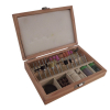 100pc Polish Sand Cut Rotary Accessory Set in Wooden Box