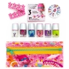 glitter and sparkle nail polish, manicure, pedicure, crazy party animal poppy beauty pouch, DIY nail guide