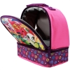 Shopkins Girls Dual Compartment Lunch Bag Insulated Open