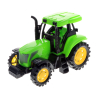 KidPlay Kids Friction Powered Farm Tractor Play Set Green Tractor Figurines