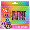 TY Beanie Boos 12pk Jumbo Kids Crayons for Activity Play Sets and Coloring Books