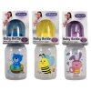 Baby Care Infant Feeding Bottle With Silicone Nipple and Adventure Animal Friends 3 Pack Assorted2