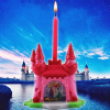 2pk Disney Princess 3D Candle Holder with Candle Set for Princess Themed Parties Lifestyle