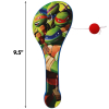 TMNT Paddle Ball Boys Themed Birthday Party Favor or Stocking Stuffer Scale Image
