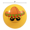Inflatable Emoji Beach Ball for Outdoor Adult and Kid Fun- Mysterious