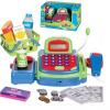 Pretend Play Electronic Cash Register Toy Realistic Actions & Sounds Green