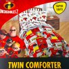 Disney Incredibles 2 Twin Sized Comforter Reversible Blanket
