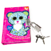 TY Beanie Boos Pocket Mini Diary with Fluffy Pen Leona the Leopard