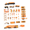 Deluxe 50pc Diecast City Construction Micro Wheels Kid Complete Toy Car Play Set