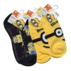 Minions Movie No Show Ankle Socks 3 Pack Size 9-11 Boys Apparel Accessories