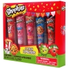 5pc Shopkins Lip Balm Girls Lip Gloss Tubes 5 Different Scents Retail Packaging