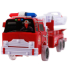 Features Picture of Firefighter driving Truck