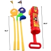 KidPlay Products Kids Toddler Outdoor Golf Club Pretend Play Set - Red Scale