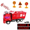 KidFun RC Fire Rescue Fire Truck Lights & Sounds - Remote Control