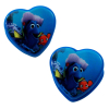 9pc Disney Finding Dory Girls Hair Accessory Set Heart Shaped Clips