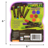 Nickelodeon TMNT Ninja Turtles Kids Art Case 16pc Arts and Crafts Kit