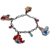 disney princess cinderella belle ariel aurora pretend play dress up jewelry charm bracelet with colorful and shiny beads