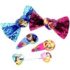 DIsney Princess Beauty and the Beast Girls Hair Accessories Gift Set Bow Clips