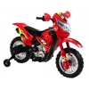 Mini Dirt Bike Motorcycle with Headlight 6V Kids Battery Powered Ride On Car in Red