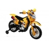 Mini Dirt Bike Motorcycle with Headlight 6V Kids Battery Powered Ride On Car in Yellow