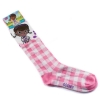Doc McStuffins Pink Plaid Knee High Socks Size 6-8 Disney Doc McStuffins disney accessories disney princess socks
