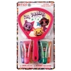 Emoji Mini Mirror & 6pc Lip Gloss Stocking Stuffer Gift Set Retail Box