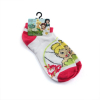 Disney Tinkerbell Fairies Girls Ankle Socks White With Pink Accents