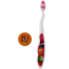 Girls Pink Shopkins Tooth Brush and Cover featuring Poppy Corn, Apple Blossom, and Cheeky Chocolate
