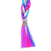 JoJo Siwa Girls Fishtail Hair Extension Pony Ties Sequins Kids Fashion Hair Blue