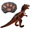 Dino Control Jurassic Rex RC Dinosaur Predator With Lights and Sounds - Brown