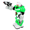 Comes with Gun for Fighting Enemies Power Warrior Super Robot Walks, Moves Arms, and Shouts Commands