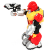 Power Warrior LED Light Up and Walking Super Robot Action Figure - Red