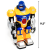 Heighth of Yellow LED Light Up and Walking Power Warrior Super Robot