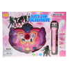 Interactive Kids Singing Music Machine Rainbow Flashing Lights and Sound - Pink