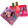 Disney Minnie Mouse Girls Nail Polish Sparkle Gift Set Storage Box Case 5pc