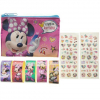 Minnie Mouse Nail Polish Tattoo Sticker Set Carrying Bag