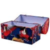 Mickey Mouse Club House Tin Box with Carry Handle for Mouseketeers, Red and Blue