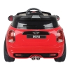 Mini Cooper Kids Ride On Car - Red Back View