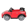 Mini Cooper Kids Ride On Car - Red Side View
