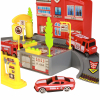 KidPlay Products Fire Station Deluxe Big City Multi Level Parking Garage Playset