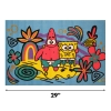 "Scaled View Fun Rugs Spongebob Square Pants and Patrick 19"" x 29"" Play Room Area Rug"
